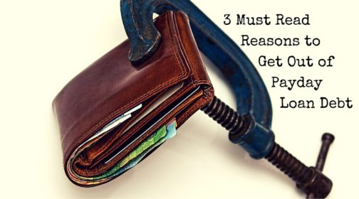 A wallet being held shut with a headline that states: 3 Must Read Reasons to Get Out of Payday Loan Debt